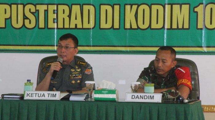 Tim Asistensi Kajian Radikalisme Pusterad TNI - AD Kunjungi Kodim Martapura