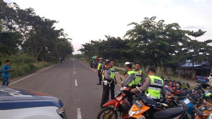 Sering Jadi Lokasi Balapan, Jalang Lingkar Walangsi Kapar Dirazia Petugas Polres Hulu Sungai Tengah