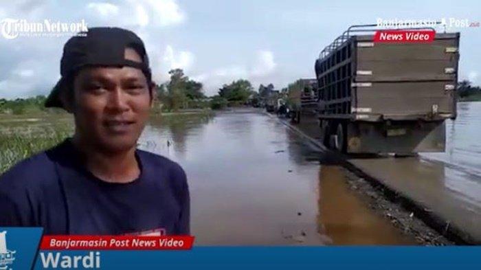 Banjir di Kalsel, Jasa Ekspedisi Pakai Mobil Kecil untuk Antar Paket Pelanggan