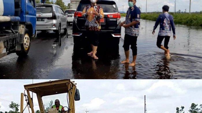 Kerusakan Jalan Poros Tengah Bukitrawi Pulangpisau Kalteng Dampak Banjir Diperbaiki