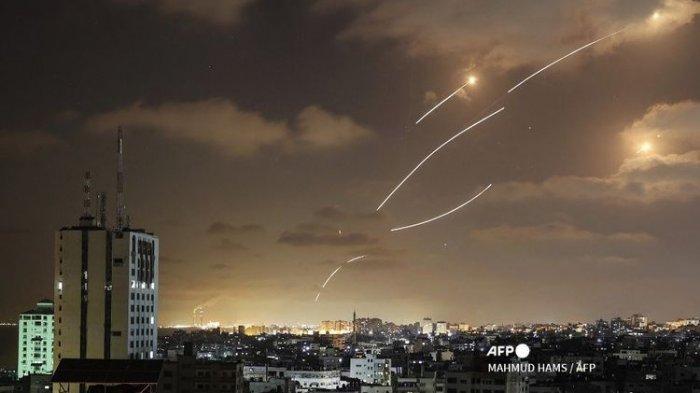 Penampakan Roket Qassam Hamas Palestina Tembus Iron Dome Israel, 1.000 Roket Lolos Kubah Besi