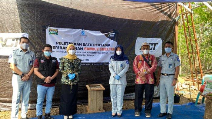 Jasa Raharja Gelar Donasi untuk Pembangunan Family Shelter Bagi Korban Banjir Barabai HST