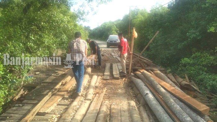 Kondisi Jembatan Dari Batang Nyiur  Kembali Dikeluhkan, Ini Harapan Warga