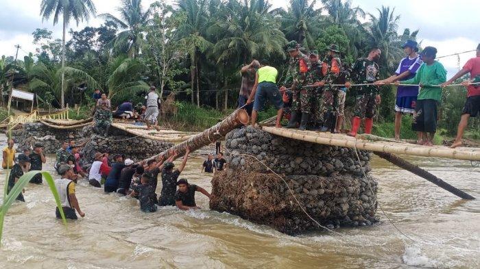 Jembatan Darurat Selesai Diperbaiki, Desa Baru-Batutunggal Kabupaten HST Kembali Terhubung