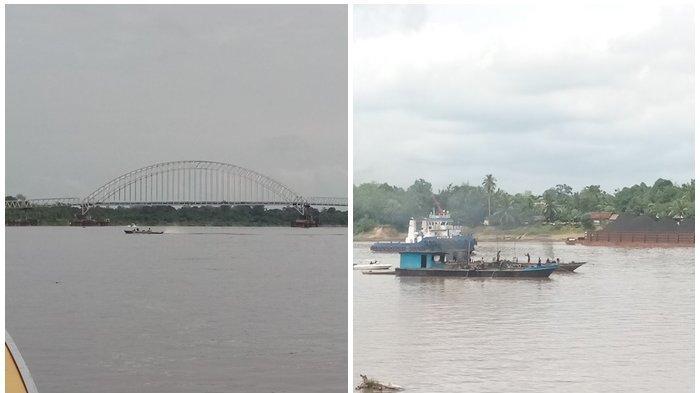 Sering Ditabak Kapal, Lalulintas Tongkang Lewat Bawah Jembatan  Kalahien Akan Diperketat