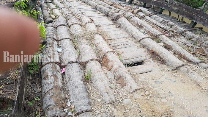 Kades Rumintin Sebut Setiap Tahun Usulkan Perbaikan Jembatan ke Pemkab Tapin