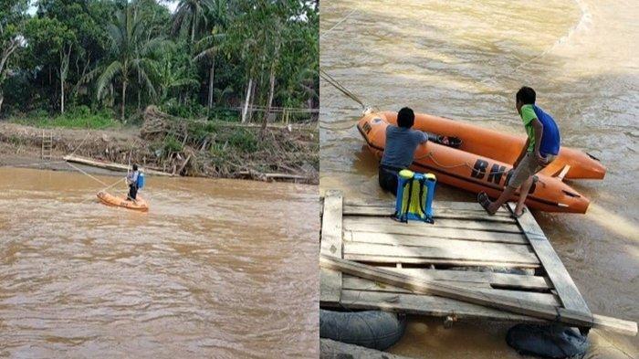 Tiga Jembatan Putus Diterjang Banjir HST, Petani Karet Kini Kesulitan Mencari Nafkah