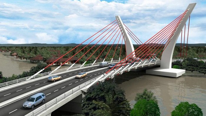 Keren! Kalsel akan Punya Jembatan Sistem Penyangga Tunggal Pertama di Indonesia, Ini Penampakannya
