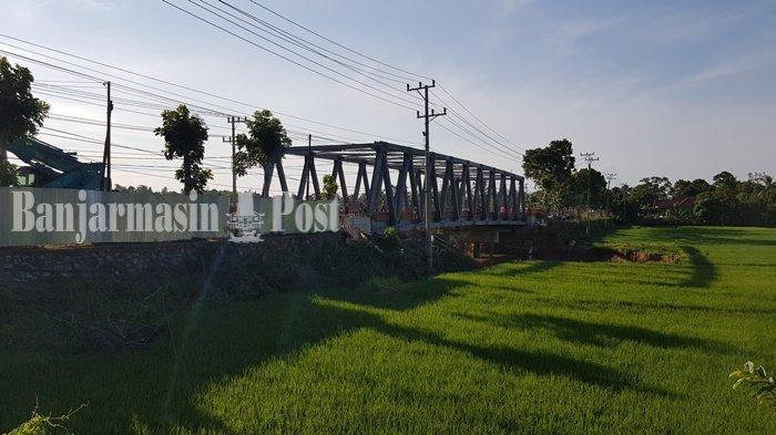 Jembatan di Pabahanan Kabupaten Tala Telah Tersambung, Begini Penampakannya