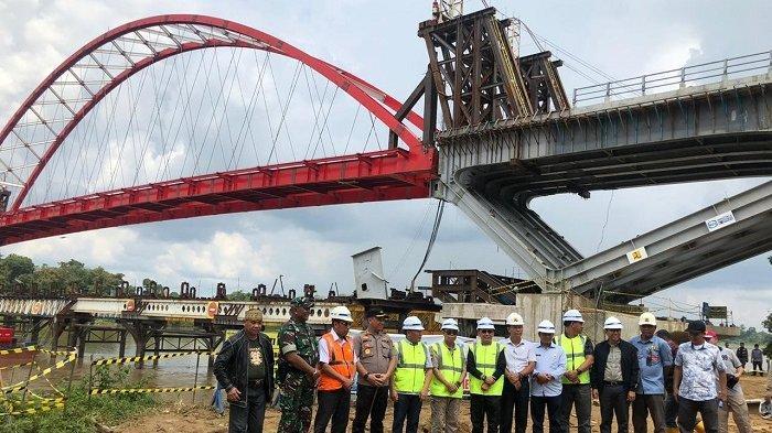 Rencana Diresmikan Presiden Jokowi, JembatanTumbang Samba Hubungkan Kalteng - Kaltim-Kalbar