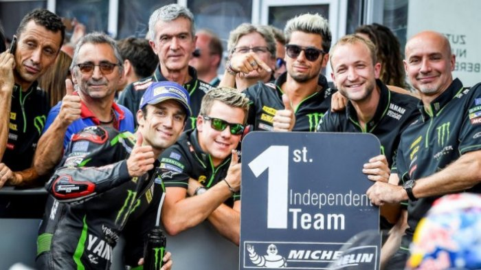 Saat Johann Zarco Kembali Permalukan Valentino Rossi dan Maverick Vinales di MotoGP Prancis 2018