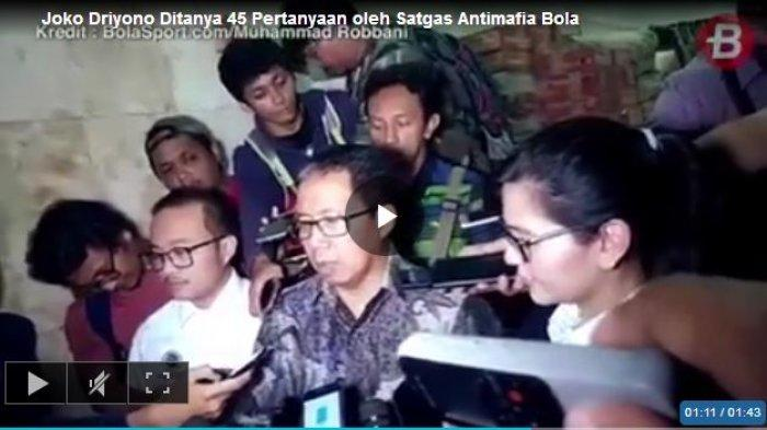 Jadi Tersangka, Plt Ketum PSSI Joko Driyono Belum Ditahan, Ini Alasan Satgas Anti Mafia Bola