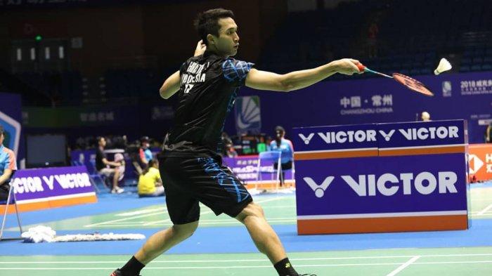 Hasil Final French Open 2019 - Belum Bisa 'Pecah Telur', Jonatan Christie Takluk dari Chen Long