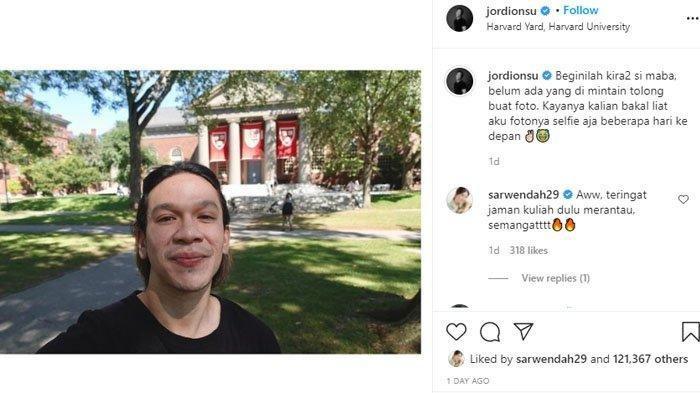 Jordi Onsu pamer jalan-jalan di kampus barunya, Universitas Harvard di Amerika Serikat