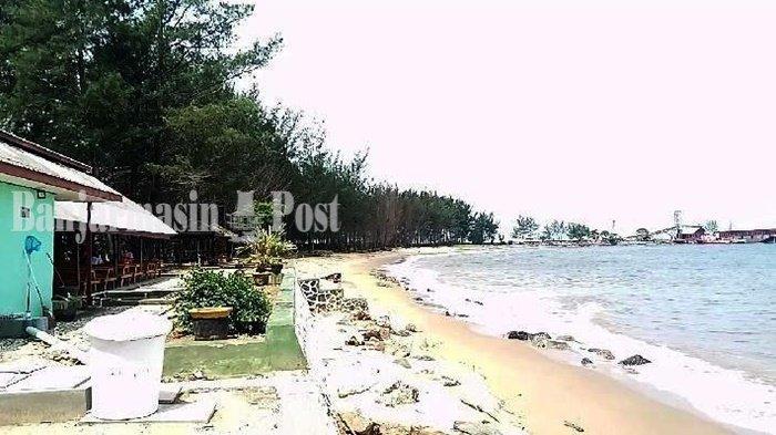Pasir di Jorong Beach Galam Kabupaten Tala Padat dan Nyaman Dijelajahi