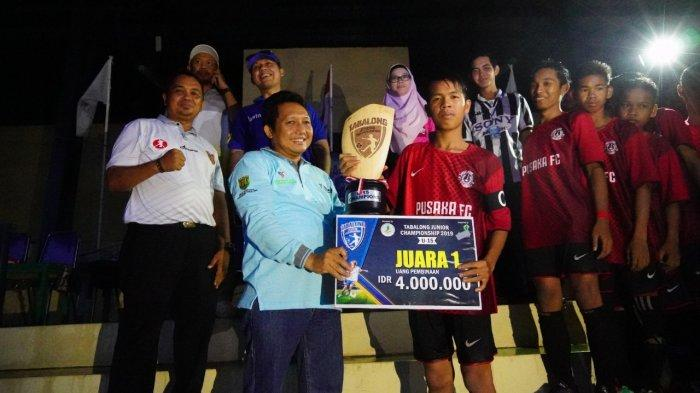 Final Sepakbola Tabalong Junior Championship 2019 Penuh Semangat Meski Diguyur Hujan
