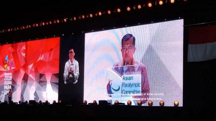 Jusuf Kalla Puji Atlet yang Berpartisipasi Saat Closing Ceremony Asian Para Games 2018