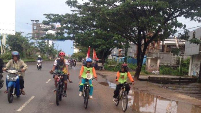 Gowes Ke Kota Rantau, Kai Penjelajah Disambut Relawan di Gambut