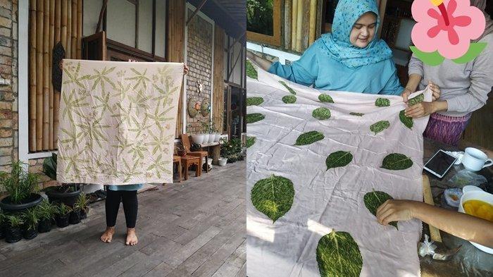 Unik dan Limited Editionnya Eco Print Sasirangan Daun Singkong dan Rumput