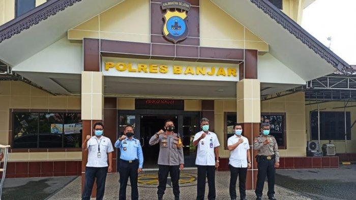Kalapas Narkotika  Karang Intan Kunjungi Polres Banjar, Cegah Gangguan Kamtib di Dalam Lapas