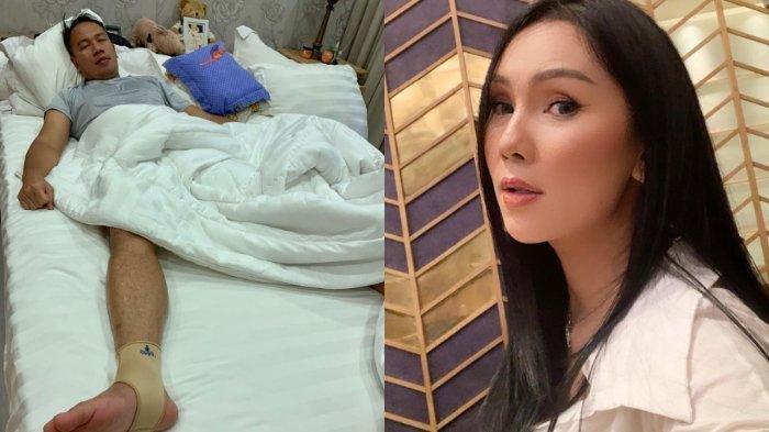 Kalina Ocktaranny perlihatkan kondisi Vicky Prasetyo yang terbaring lemah di tempat tidur