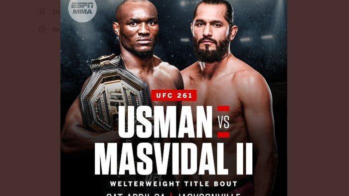 Jadwal UFC 261 - Duel Rematch Kamaru Usman vs Jorge Masvidal Demi Gengsi & Sabuk Juara