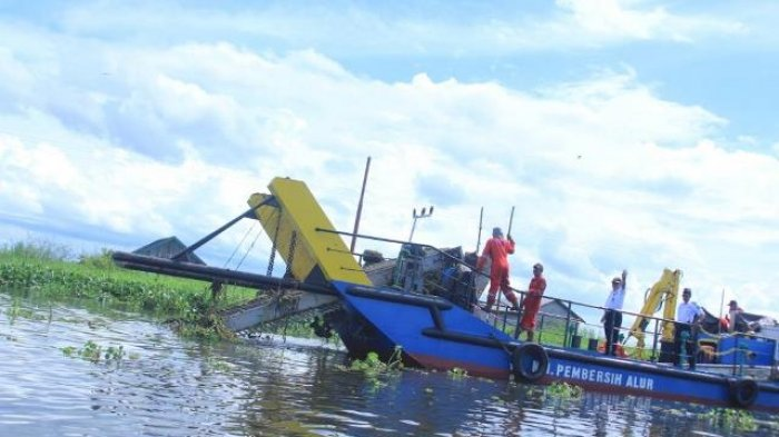 Dinas Perhubungan Kabupaten HSU Persiapkan Pembersihan Sungai