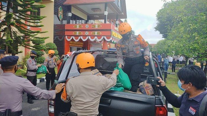 Polda Kalteng Kirim Bahan Makanan dan Personel Bantu Korban Banjir Katingan
