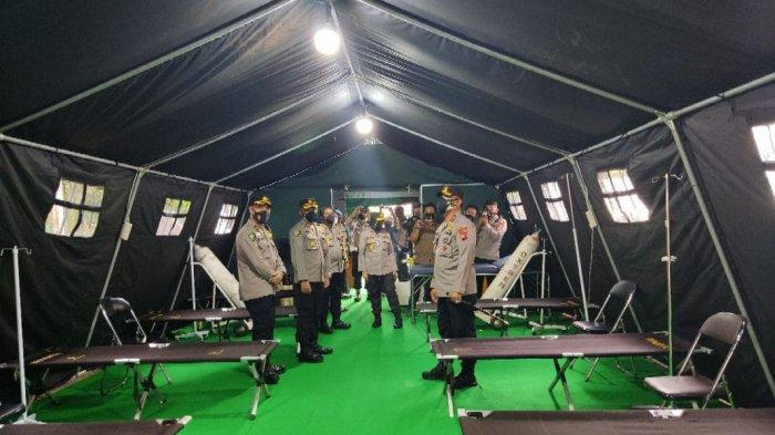 Pasien Positif Covid-19 Kalteng Terus Bertambah, RS Bhayangkara Siapkan IGD Lapangan