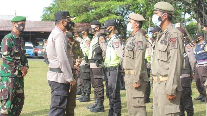 Polres Banjar Kalsel Gelar Apel Kesiapan Pasukan Pengaman Pilakdes Serentak