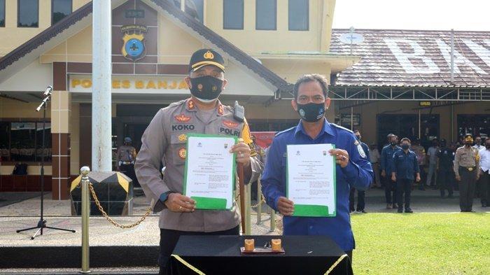 Polres Banjar dan Radio Suara Banjar Usung Talkshow Polisi Menyapa
