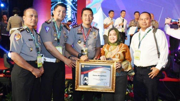 Polres Banjarbaru Raih Penghargaan Pelayanan Publik Sangat Baik dari Kemenpan RB