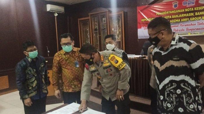 Kapolresta Kerjasama dengan Pengembang, 72 Personel Polresta Banjarmasin Langsung Ambil Perumahan