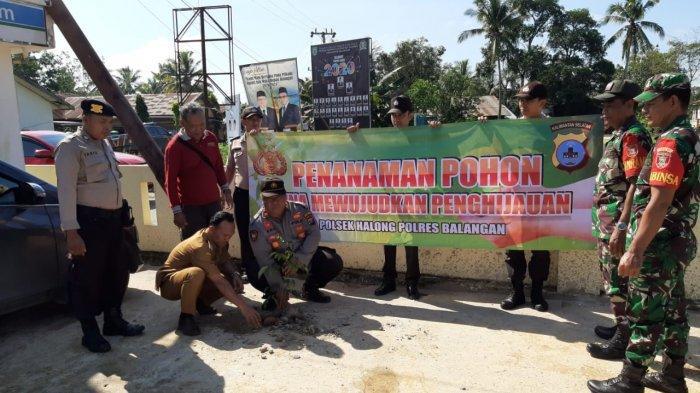100 Bibit Pohon Bakal Hijaukan Mako Polsek Halong