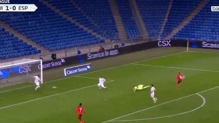 HASIL Swiss Vs Spanyol UEFA Nations League - Ramos Jadi Kiper Menit 55, La Furia Roja Nyaris Binasa