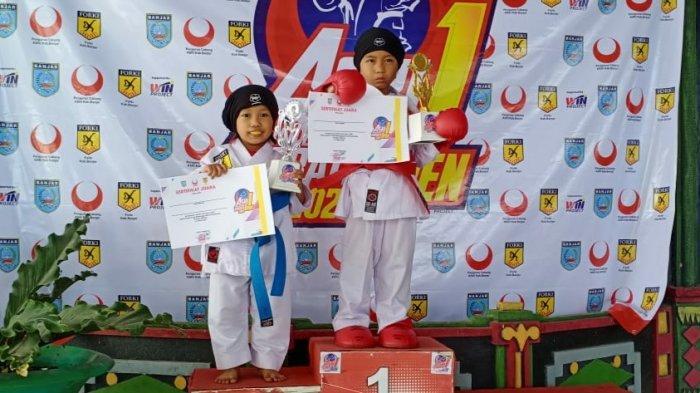Karateka Cilik Asal Balangan Senang Bisa Naik Podium di Kejuaraan Kab Banjar 1 Open se-Kalselteng