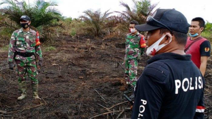 Kebakaran Sawit Desa Mantangai, Buang Puntung Rokok Nyala Lelaki Ini Diamankan Polsek Mantangai