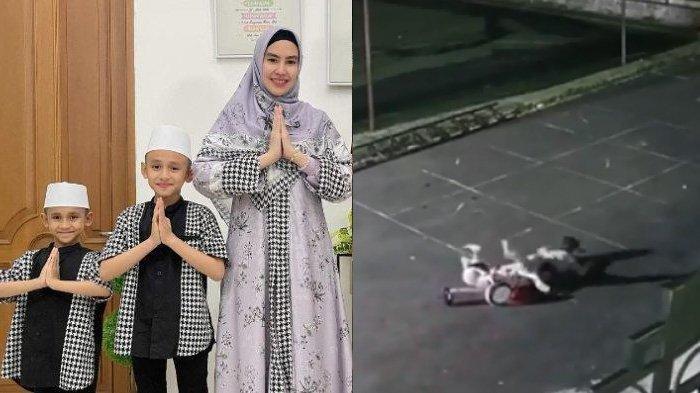 Insiden Anak Kartika Putri dan Habib Usman Terjatuh dari Run Wheel Terekam CCTV, Lihat Kondisinya