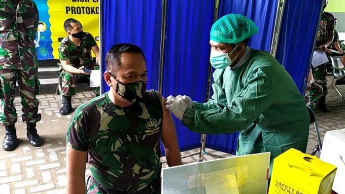 Vaksinasi Personel Kodim 1007/Banjarmasin, Kasdim: Tidak Merasa Apa-apa