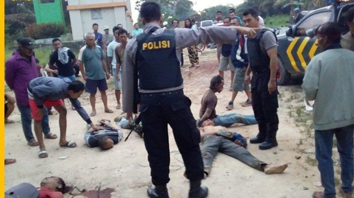 Lima Rampok Bawa Senjata Tajam, Babak Belur Dihakimi Warga di Kotawaringin Barat, 2 Sekarat 1 Tewas