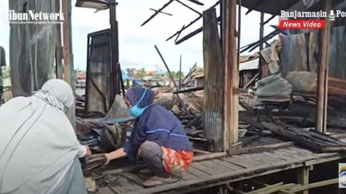 VIDEO Kebakaran di Banjarmasin, Enam Rumah Hangus di Benua Anyar