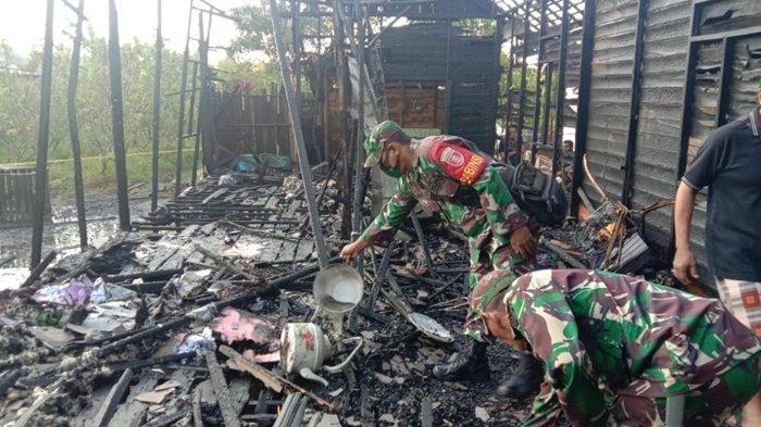 Kebakaran Kalsel, 3 Rumah Warga Kelampayan Ulu Kabupaten Banjar Hangus