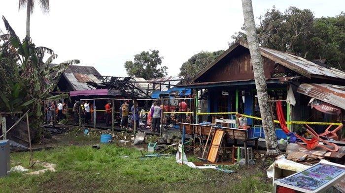 Lima Rumah Terbakar di Lok Bangkai Kabupaten HSU