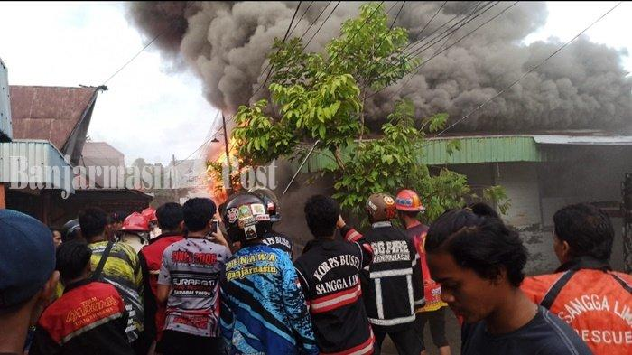 Kebakaran di Banjarmasin, Api Gegerkan Warga Kelurahan Antasan Besar