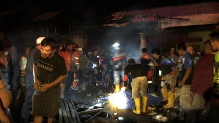 Kebakaran di Kalsel, Dua Bocah Tewas di Dalam Rumah yang Hangus di Binuang Tapin