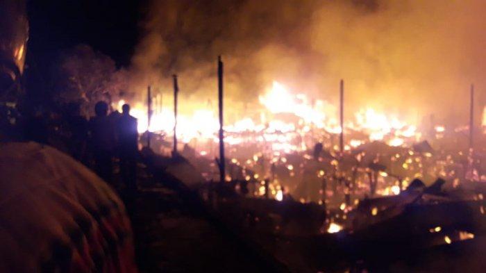 Kebakaran Kawasan Padat Penduduk Pahandut Palangkaraya, Hanguskan 24 Bangunan