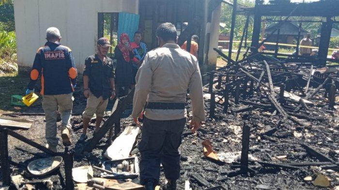 Kebakaran Kalsel, Ditinggal ke Pasar, Satu Rumah Hangus Terbakar di Karya Tani Batola