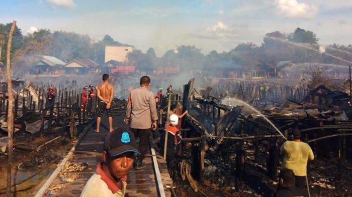 Kebakaran Kalteng, Diduga Cekcok Pasutri Akibatkan 38 Bangunan Hangus di Palangkaraya