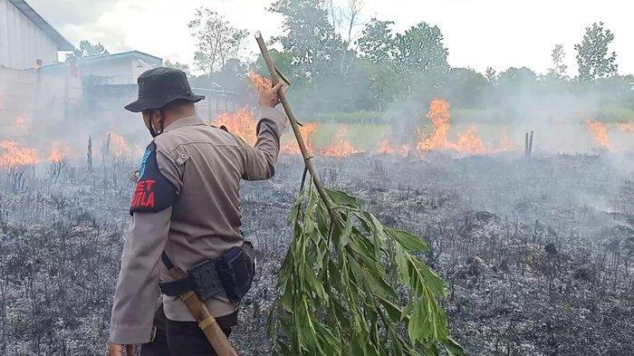 Karhutla Kalteng, Warga Bakar Lahan Berurusan dengan Polsek Ketapang Sampit