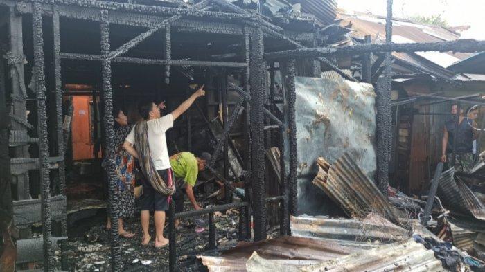 Kebakaran Kalsel, Api Berkobar di Pelambuan Minggu Pagi, 9 Rumah Rusak Berat